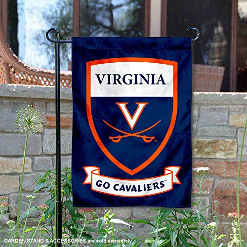 College Flags and Banners Co. Virginia Cavaliers Shield Garden Flag (Garden Virginia Cavaliers)