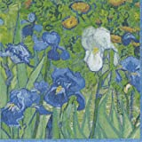 Cocktail Napkins Paper for Bridal Shower Wedding Birthday Party Van Gogh Irises Pk 40