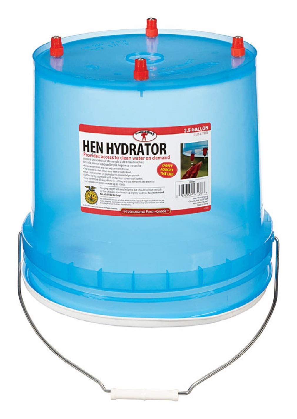 LITTLE GIANT Hh35 Hen Hydrator, Plastic (Pack of 4)