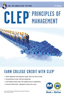 Clep Principles Of Management W Cd Rom Clep Test Preparation Dr