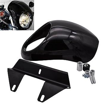 Fundas para faros delanteros, montaje en horquilla para faros delanteros, kit de soporte de visera, de KaTur: Amazon.es: Coche y moto