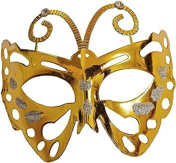 KIRALOVE Oro - Hermosa máscara Veneciana - Mariposa - Color ...