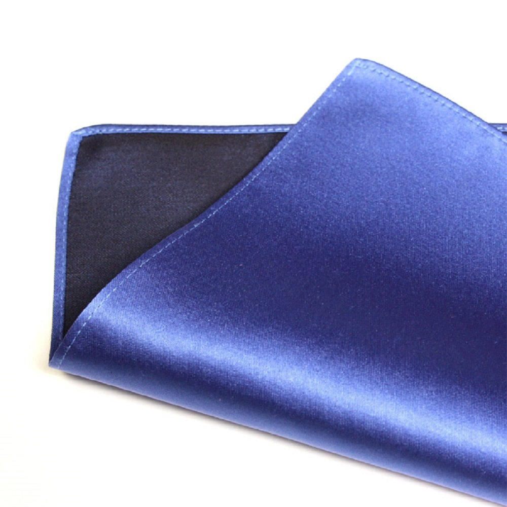 Style= Men's Kyoto Silk 100% Pocket Square Chief Blue Made in Japan