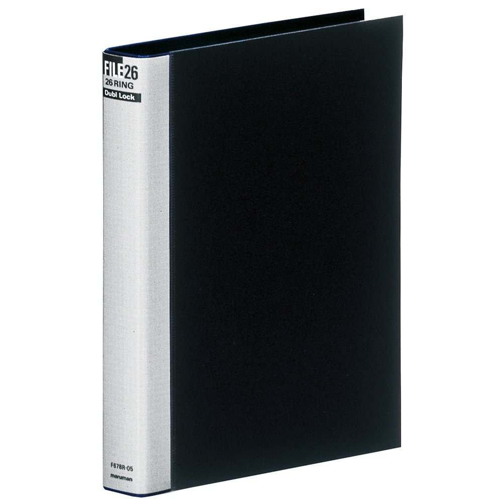 Maruman B5 26 hole da block metal binder black F678R-05 (japan import)