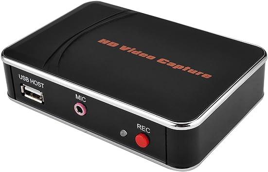 AGPtek Capturadora de Vídeo HD Grabadoa de Videojuegos 1080p HDMI/YPBPR Xbox 360 & uno /PS3 PS4 Capturadora de Vídeo: Amazon.es: Electrónica
