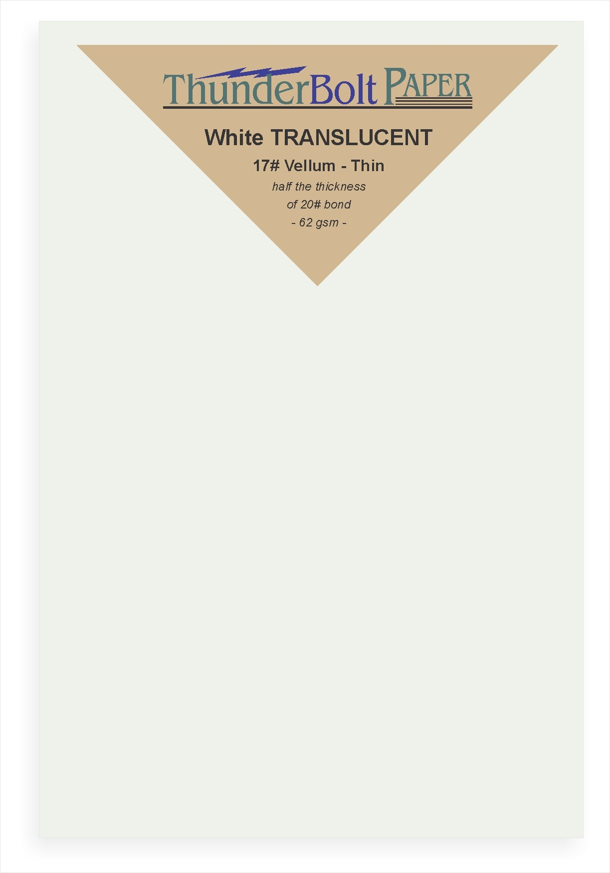 2000 Soft Off-White Translucent 17# Thin Sheets - 4'' X 6'' (4X6 Inches) Photo|Card|Frame Size - 17 lb/Pound Light Weight Fine Quality Paper - Tracing, Fun or Formal Use - Not a Clear Transparent by ThunderBolt Paper