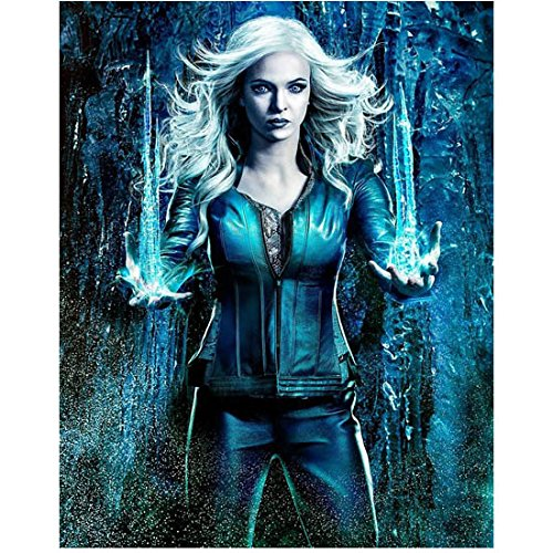 The Flash Anna Hopkins as Killer Frost icicles in hands 8 x 10 Inch Photo
