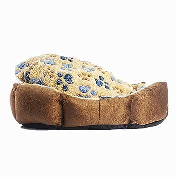 Kaxima Manta para Mascotas camada de Cinco Colores Huellas Pet camada Perro Nido Teddy Kennel Perro Estera del Animal doméstico provee 40 * 32cm: Amazon.es: ...