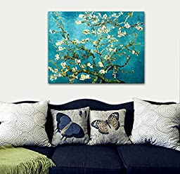 Wieco Art Canvas Prints for Van Gogh Paintings Almond Blossom Modern Abstract Wall Art