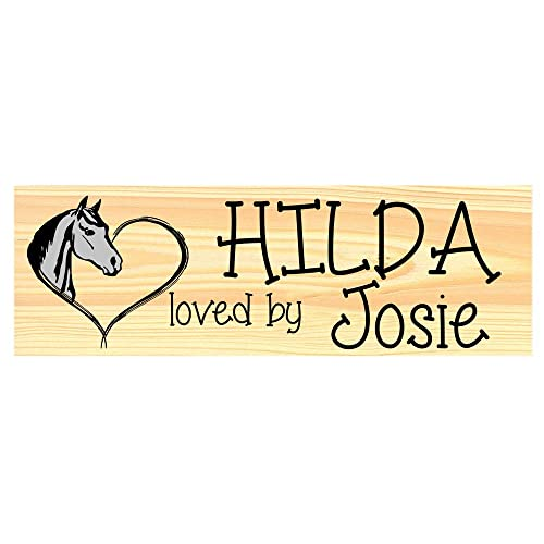 Personalised stable door horse name plaque sIgn plate CHRISTAMS GIFT IDEA XMAS