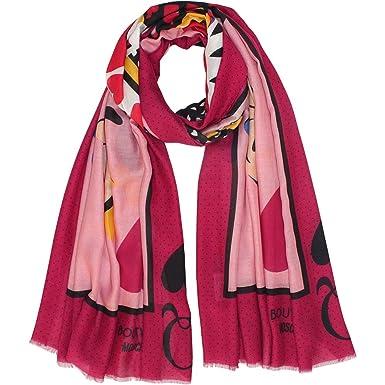 MOSCHINO - Echarpe - Femme Rose rose bonbon Taille unique  Amazon.fr ... 0389f8d6ebe5