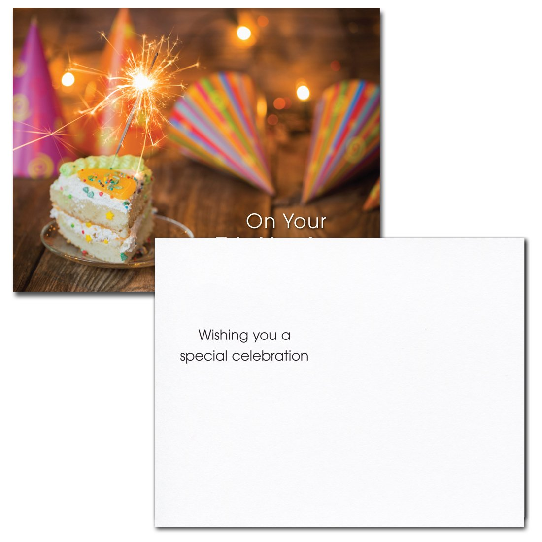 POSTCARDS:Birthday Assortment II, box of 60: 12 each of 5 designs Made in USA by CroninCards No Envelopes by CroninCards (Image #6)