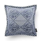 PHANTOSCOPE Decorative New Luxury Series Merino Style Fur Throw Pillow Case Cushion Cover 18' x 18' 45cm x 45cm