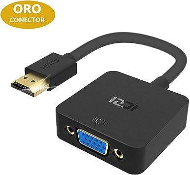 Oferta amazon: ICZI Adaptador HDMI a VGA con Conectores Chapados en Oro, Convertidor HDMI a VGA 1080P para Conectar PC a HDTV Monitor Proyector Pantalla Gigante, Negro
