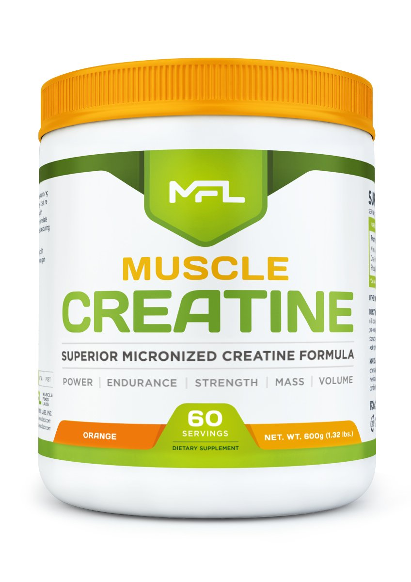 MUSCLE FOOD LABS Muscle CREATINE 3 forms of Creatine Micronized Orange