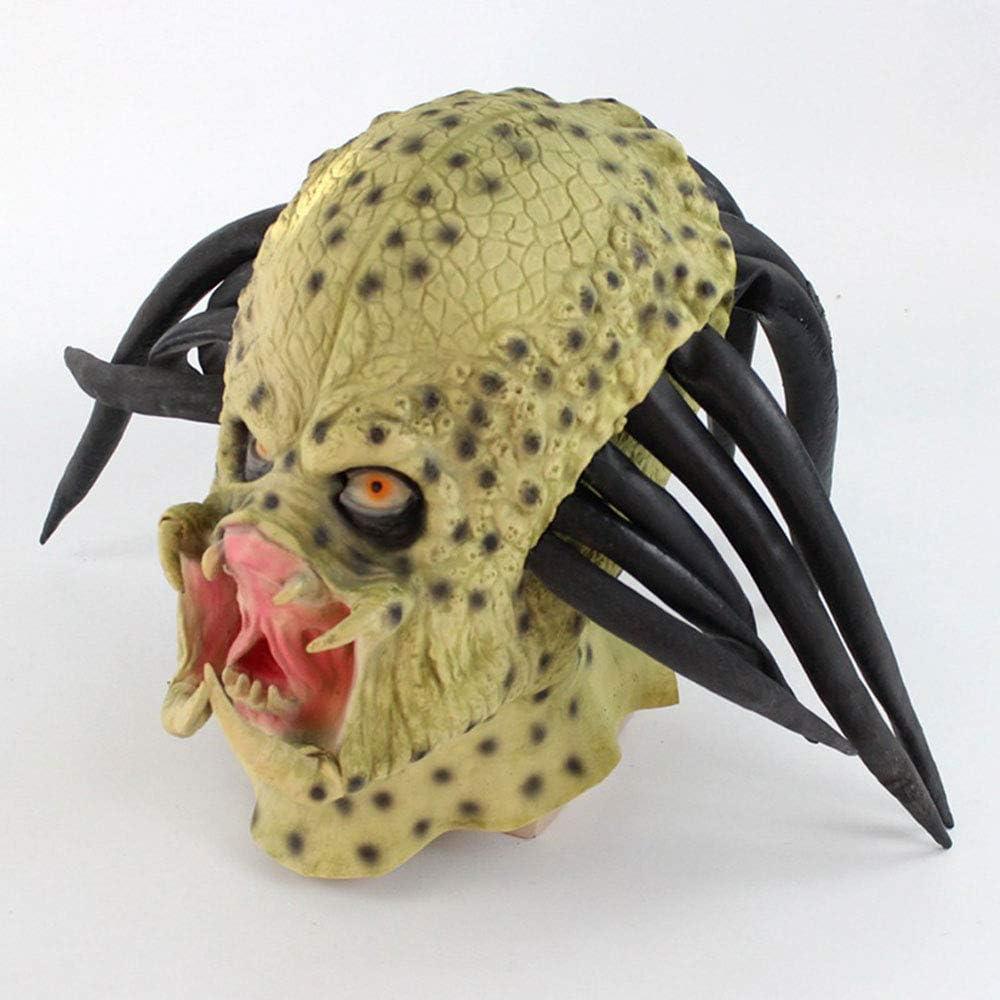 XDDXIAO Película de látex Alien Predator Cosplay Máscara Disfraz ...