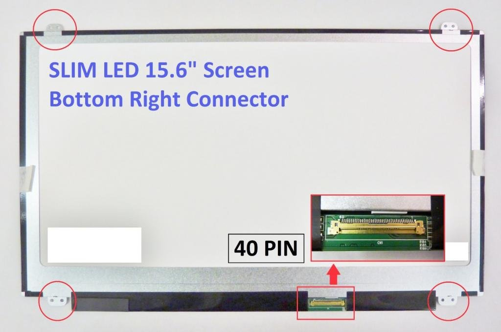 Toshiba SATELLITE L55-A5284 Laptop Screen 15.6 SLIM LED BOTTOM RIGHT WXGA HD by Toshiba (Image #5)
