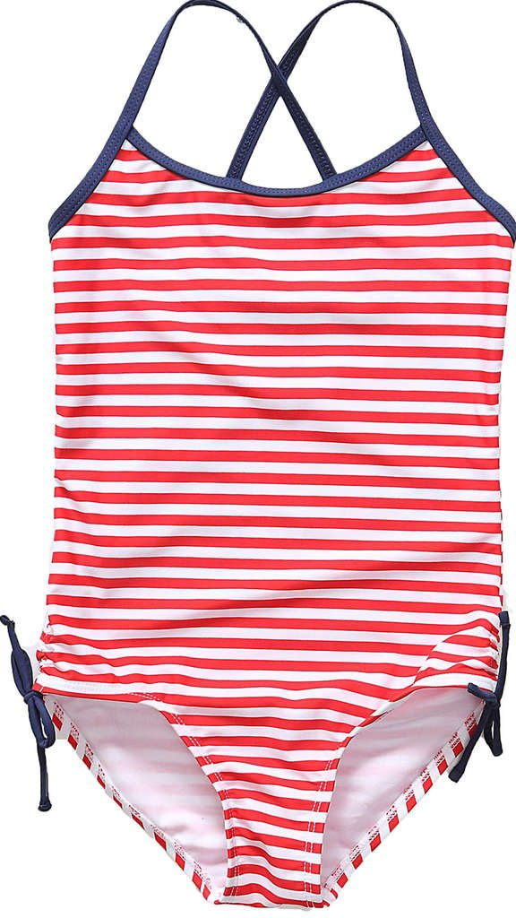CharmLeaks Girls Stripe One Piece Swimming Costumes Cute Glasses Swimsuit Swimwear