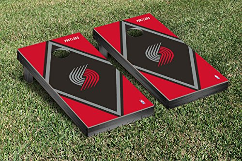 Portland Blazers Trailblazers NBA Basketball Cornhole Game Set Diamond Version by Victory Tailgate