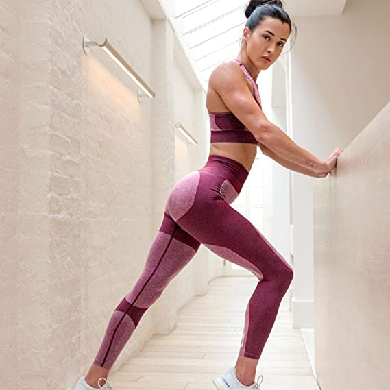 OUBAO Yoga Pants for Women Sport Short Long Workout Sports Gym Running Athletic Leggings Pant Pocket