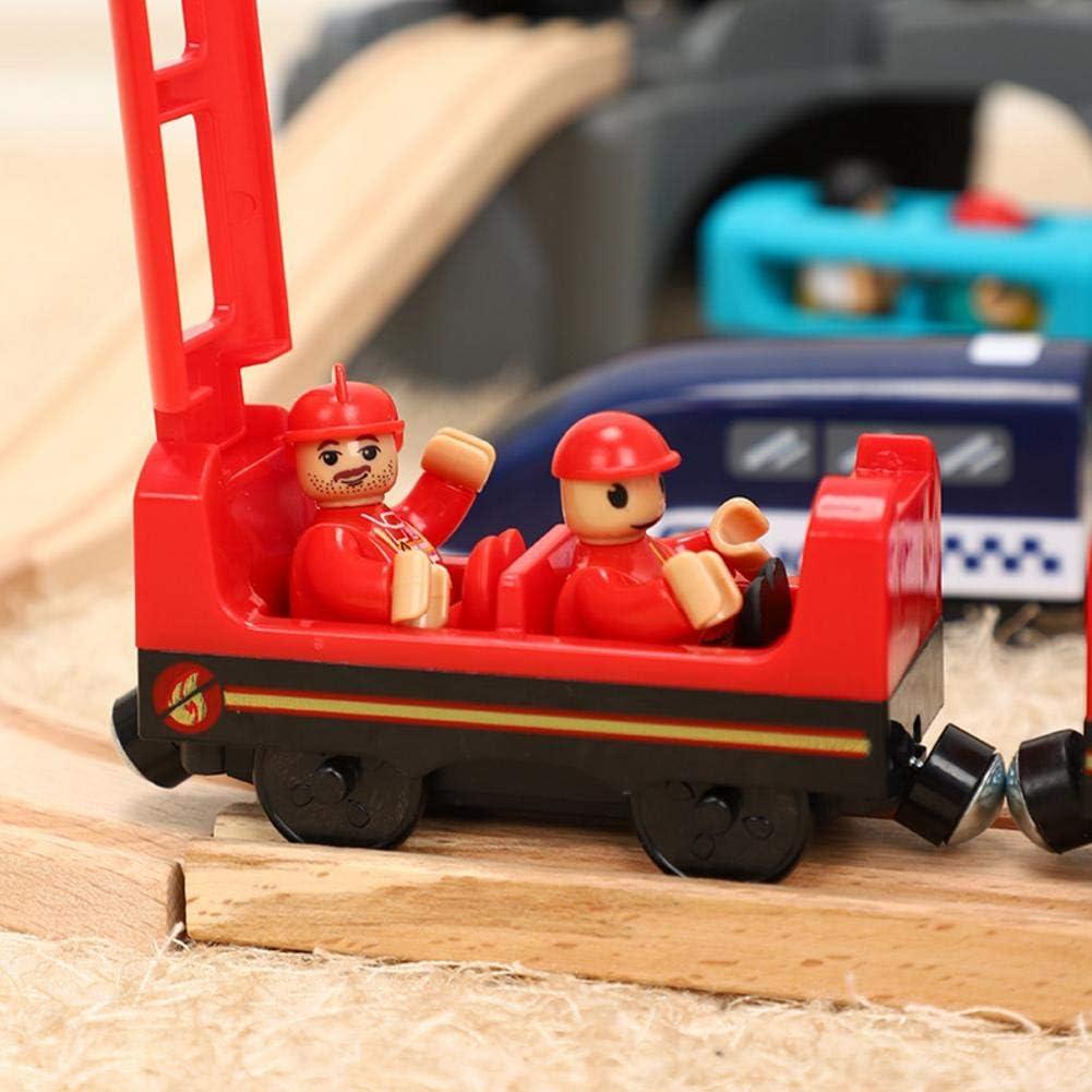Currentiz Le Train De Marchandises De Passagers Train T/él/écommand/é /Électrique Jouet avec Diffusion Vocale Compatible avec Les Jouets De Train en Bois
