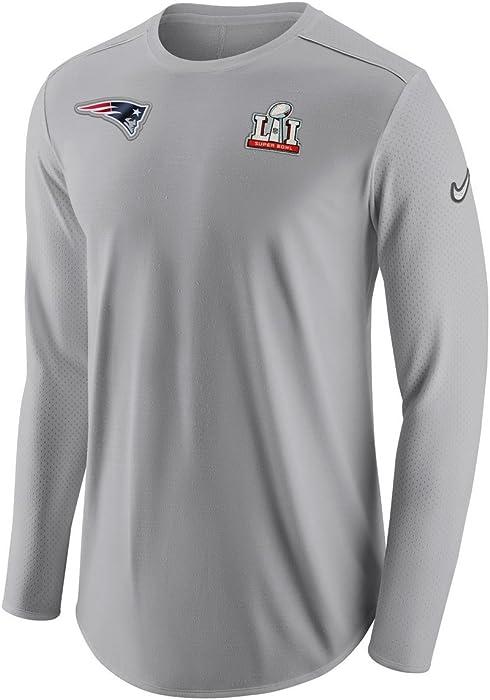 c17301a80 New England Patriots Super Bowl 51 Media Night Men s Long Sleeve Shirt  White. Nike New England Patriots Super Bowl 51 Media ...