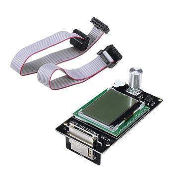 perfk MKS Mini 12864 Controlador LCD Ranura Tarjeta SD Cable ...