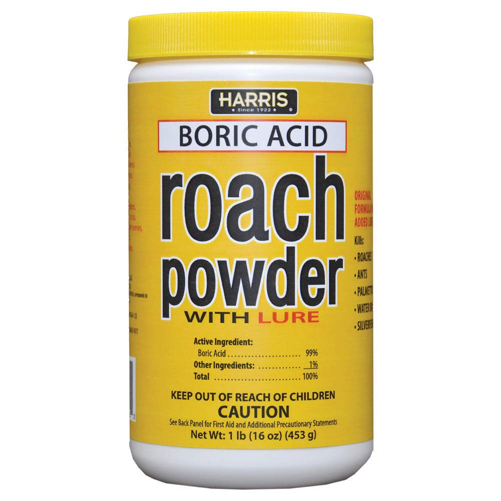 HARRIS Boric Acid Roach Killer Powder with Lure, 16oz