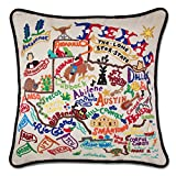Catstudio Hand-Embroidered Pillow - Texas