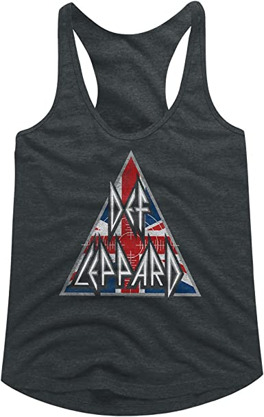 American Classics Def Leppard 80s Heavy Metal Band Rock n Roll Hysteric Logo Womens Tank Top Tee Black