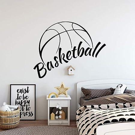 Modeganqingg Baloncesto Apliques de Pared Vinilo decoración ...