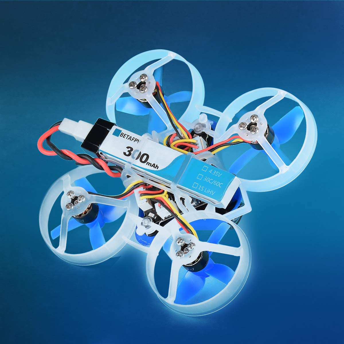 BETAFPV 8pcs 300mAh HV 1S Lipo Battery 30C 4.35V with JST-PH 2.0 Powerwhoop Connector for Tiny Whoop Blade Inductrix by BETAFPV (Image #7)