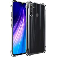 TheGiftKart Flexible Shockproof Crystal Clear TPU Soft Back Cover Case with Cushioned Edges for Ultimate Protection for Xiaomi Redmi Note 8 (Transparent)