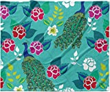KESS InHouse Anneline Sophia ''Mexican Peacock'' Teal Rainbow Fleece Baby Blanket, 40'' x 30''