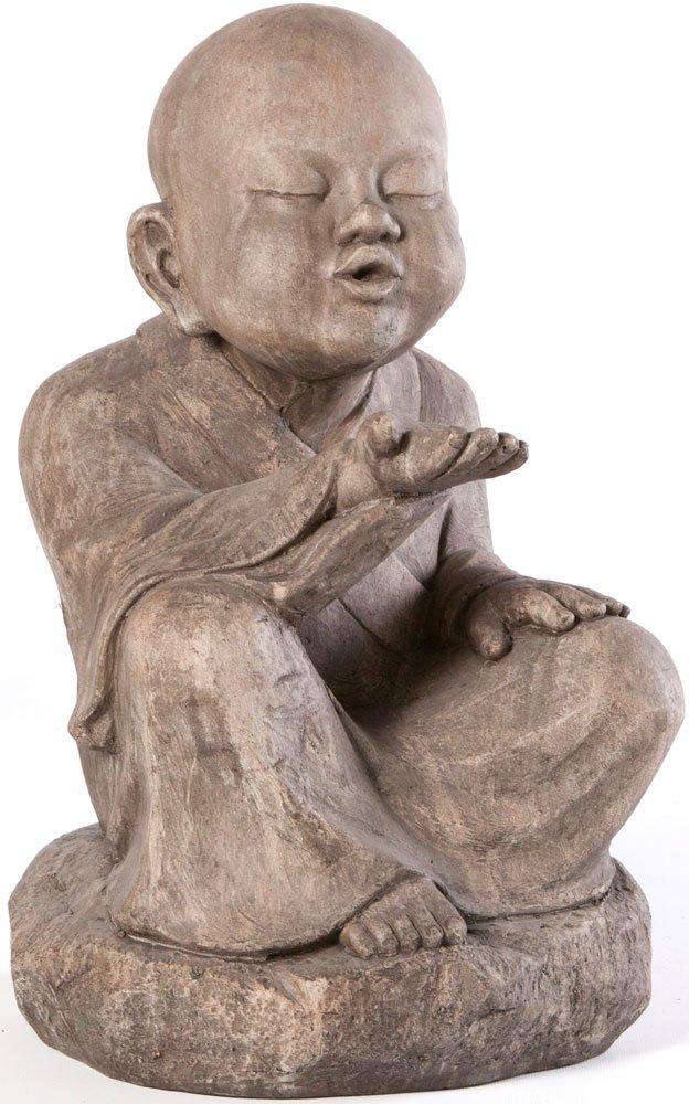 Alfresco Home Wishing Buddha Garden Statue