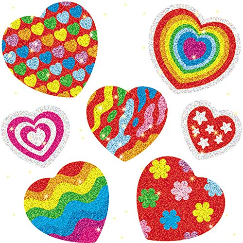 Carson-Dellosa Hearts Dazzle Sparkling Stickers - Great for class or scrapbooks