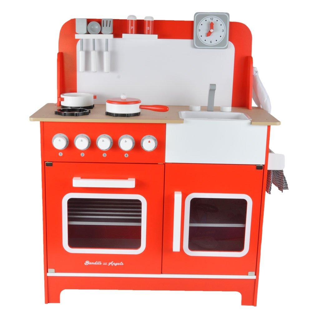 Kinderküche Rot Testsieger - Bandits & Angels Kinderküche Chef Deluxe XL