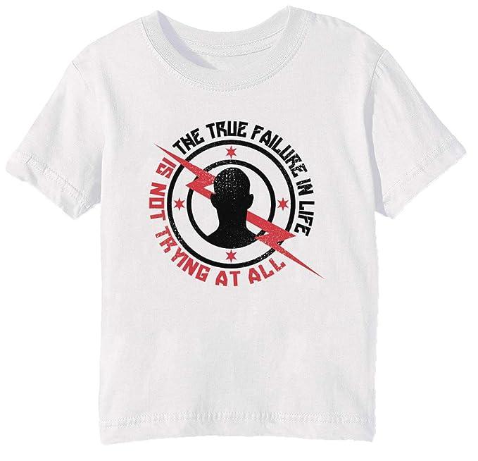 True Failure in Life - Cm Punk Niños Unisexo Niño Niña Camiseta Cuello Redondo Blanco Manga Corta Todos Los Tamaños Kids Boys Girls T-Shirt White: ...