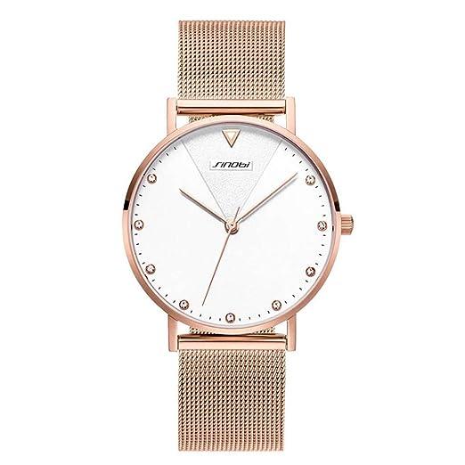 Reloj de Moda Reloj de Moda, Relojes de Cuarzo con dial de Moda y Tira de Acero Trenzada de Milán para Mujeres y Hombres (Size : T4): Amazon.es: Relojes