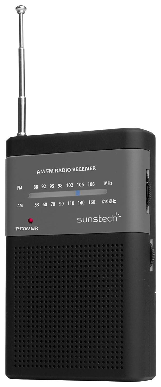 Radio port/átil con Altavoz Sunstech RPS42 Color Negro
