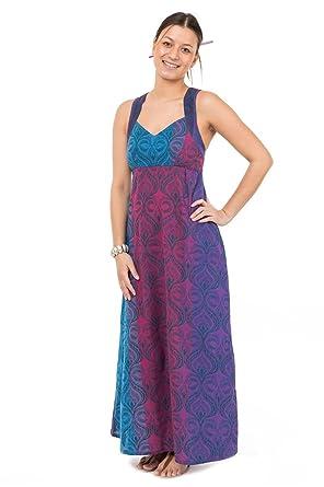 dde460af7847 FANTAZIA Robe Fluide Longue Ethnic Print SwanahS - S - (34-36)  Amazon.fr   Vêtements et accessoires