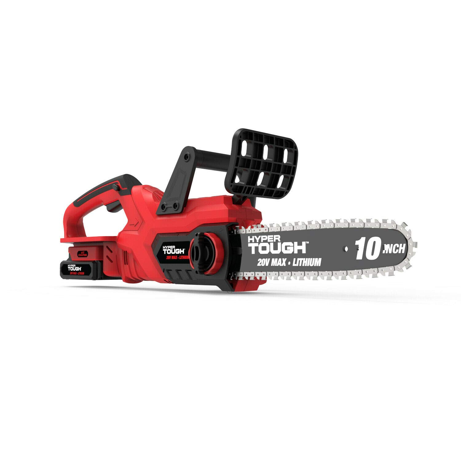 Hyper-Tough 20V Max Cordless 10-Inch Self-Lubricating Chainsaw HT19-401-003-11