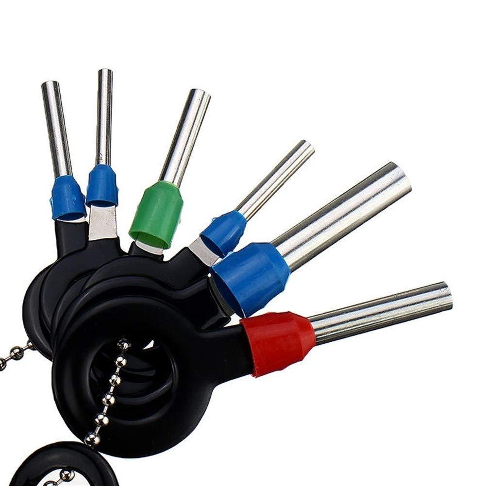 Motor 29Pcs Terminal Removal Tool Cableado el/éctrico Conector de crimpado Pin Extractor Kit Autom/óviles Reparaci/ón de terminales Herramientas manuales