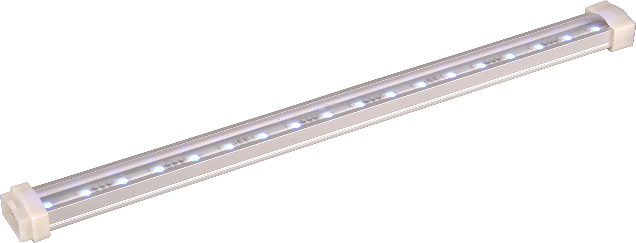 Maxim 53724AL Rainbow Channel 24V 48'', Brushed Aluminum Finish, Glass, LED Bulb , 100W Max., Damp Safety Rating, Standard Dimmable, Glass Shade Material, 2300 Rated Lumens