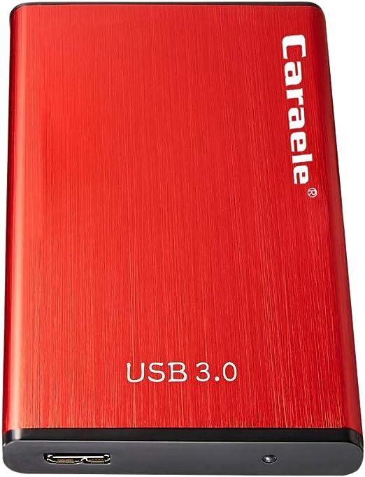 ポータブル外付けハードドライブ、エンクロージャー付きUSB 3.0 2.5インチHDDストレージバックアップ、超薄型-レッド - 80GB