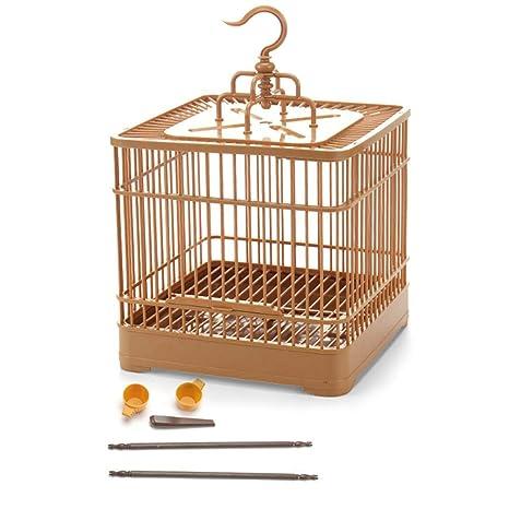 bozitian Mini Jaula para pájaros, Estilo Retro, Madera, portátil ...