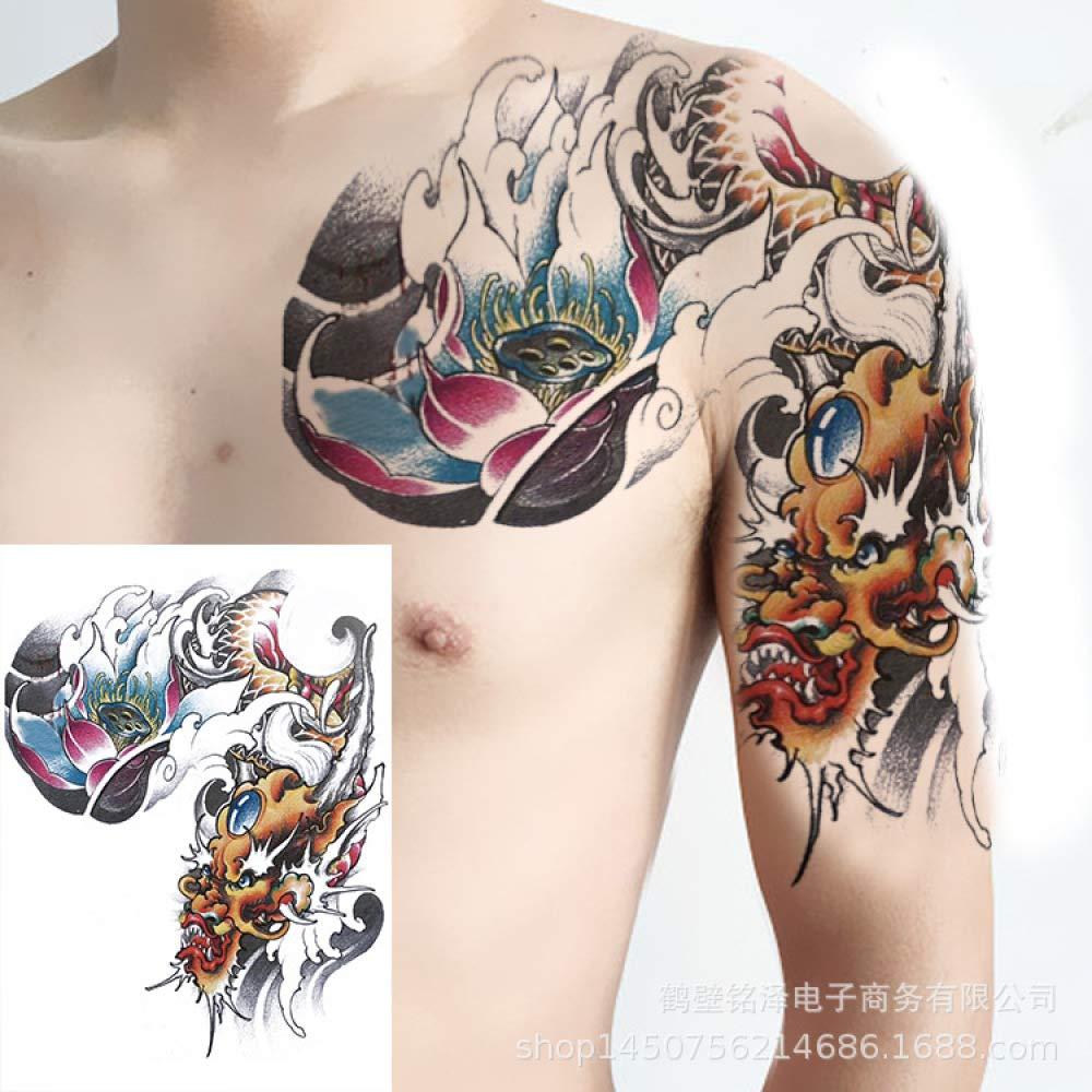 Handaxian Nueva Mitad de Las Pegatinas de Tatuaje Completamente ...