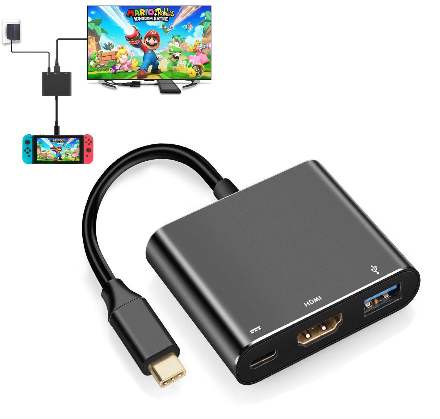 HDMI Adapter for Nintendo Switch, USB-C Charging Cable Switch Hdmi Adapter Support Any Type C Device Hub Adapter for…