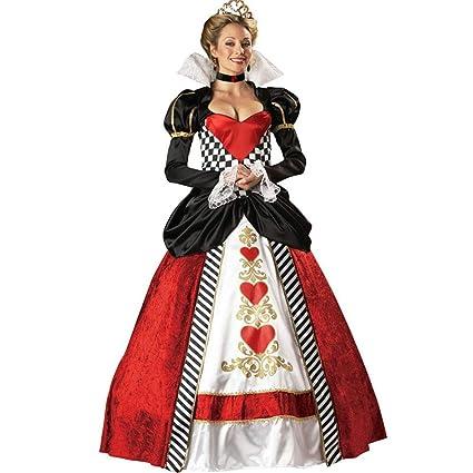LVLUOYE Cosplay de Halloween, Disney Long Queen Traje, Rojo ...