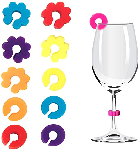 Silicone Animal Drink Markers Wine Glass Charms Markers Party Addition-Drink Markers Set of 6 for Cocktails Martinis Cat Champagne Flutes and More.